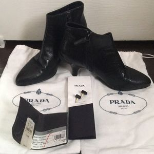 Bland New Authentic Prada ankle boots size 37.5